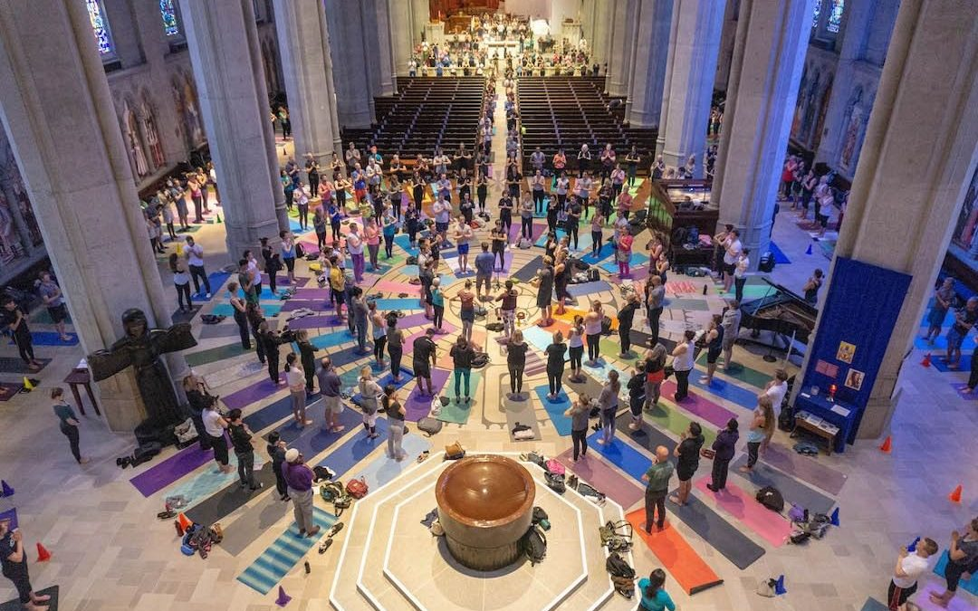 yoga on the labyrinth grace cathedral